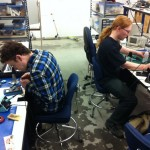 Electrical team hard at work